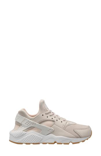 new arrival 070ef 36f73 Nike Air Huarache Run Sneaker In Summit White  Silver  Brown