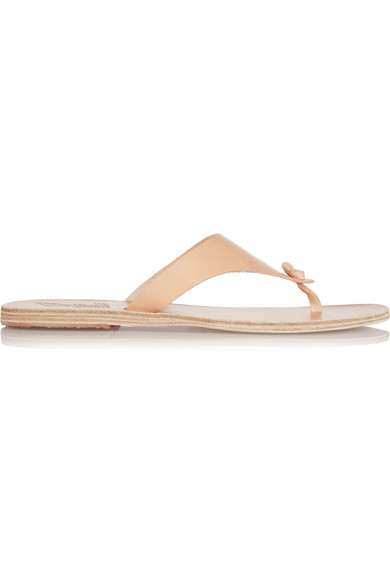 Ancient Greek Sandals Igia Leather Thong Sandal, Nude In Neutrals