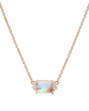 3f8fee97d Kendra Scott Ever Druzy Pendant Necklace In Blush Dichroic Glass/Rose Gold