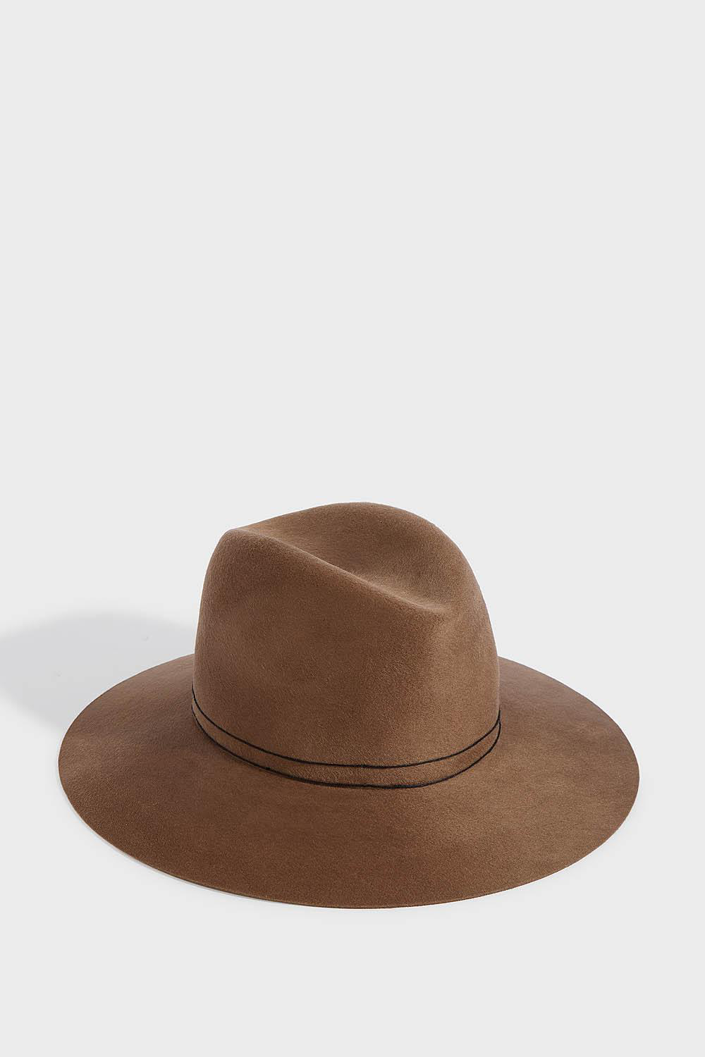 387c0e69d Billie Wool Fedora in Brown