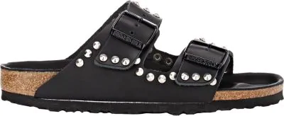 Birkenstock 'Arizona' Studded Leather Sandal (Women) In Black