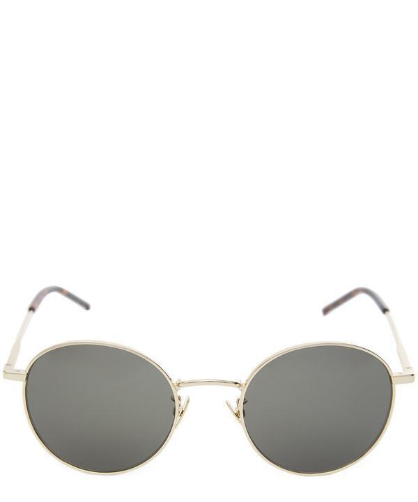 Saint Laurent Round Sunglasses In Gold