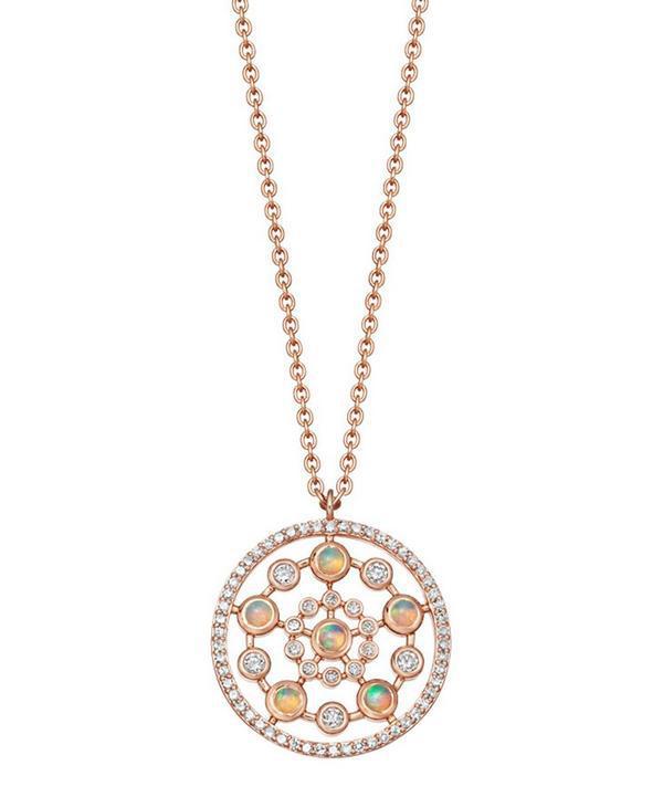 08547c52ce841 Rose Gold Icon Nova Medium Opal Pendant Necklace