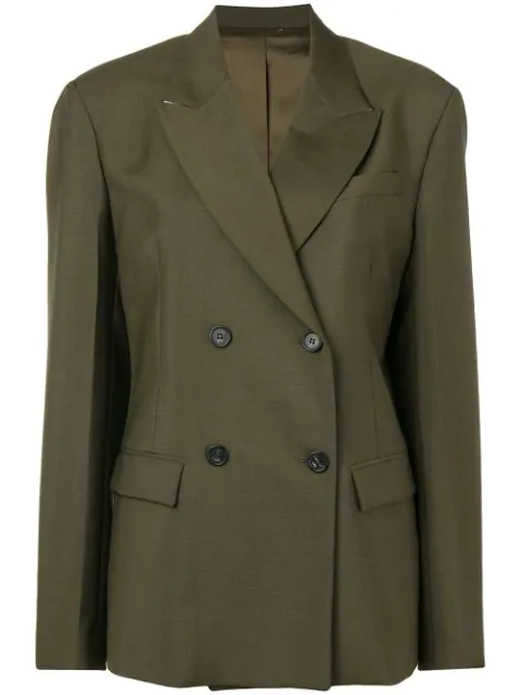 N°21 Nº21 Double-Breasted Blazer - Green