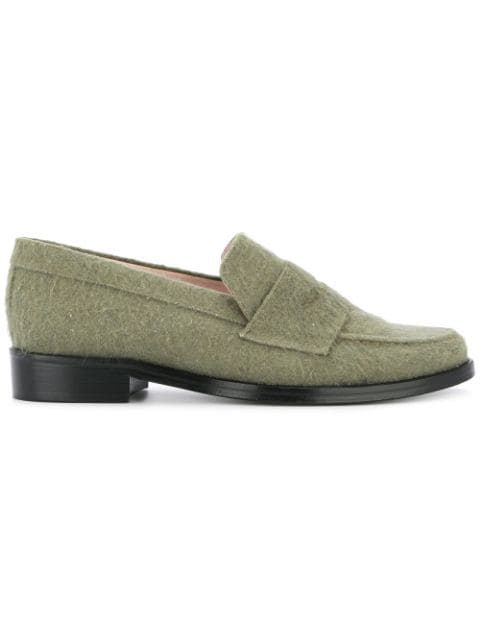 Leandra Medine Klassische Loafer - GrüN In Green