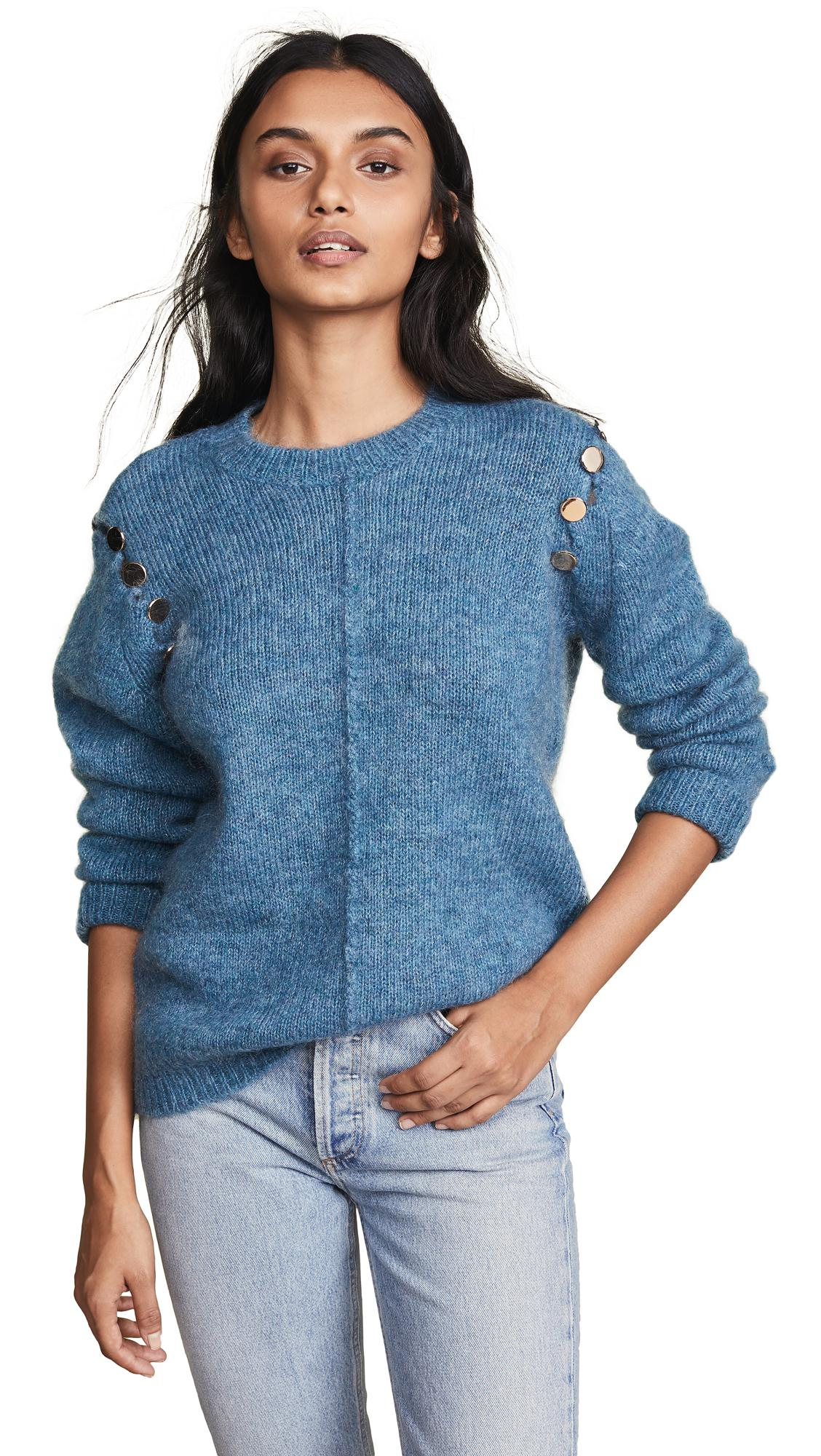 05a917947599 Heartmade Karlyn Sweater In Dusty Blue | ModeSens