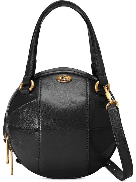 Gucci Basketball Shaped Mini Shoulder Bag In 1000 Black