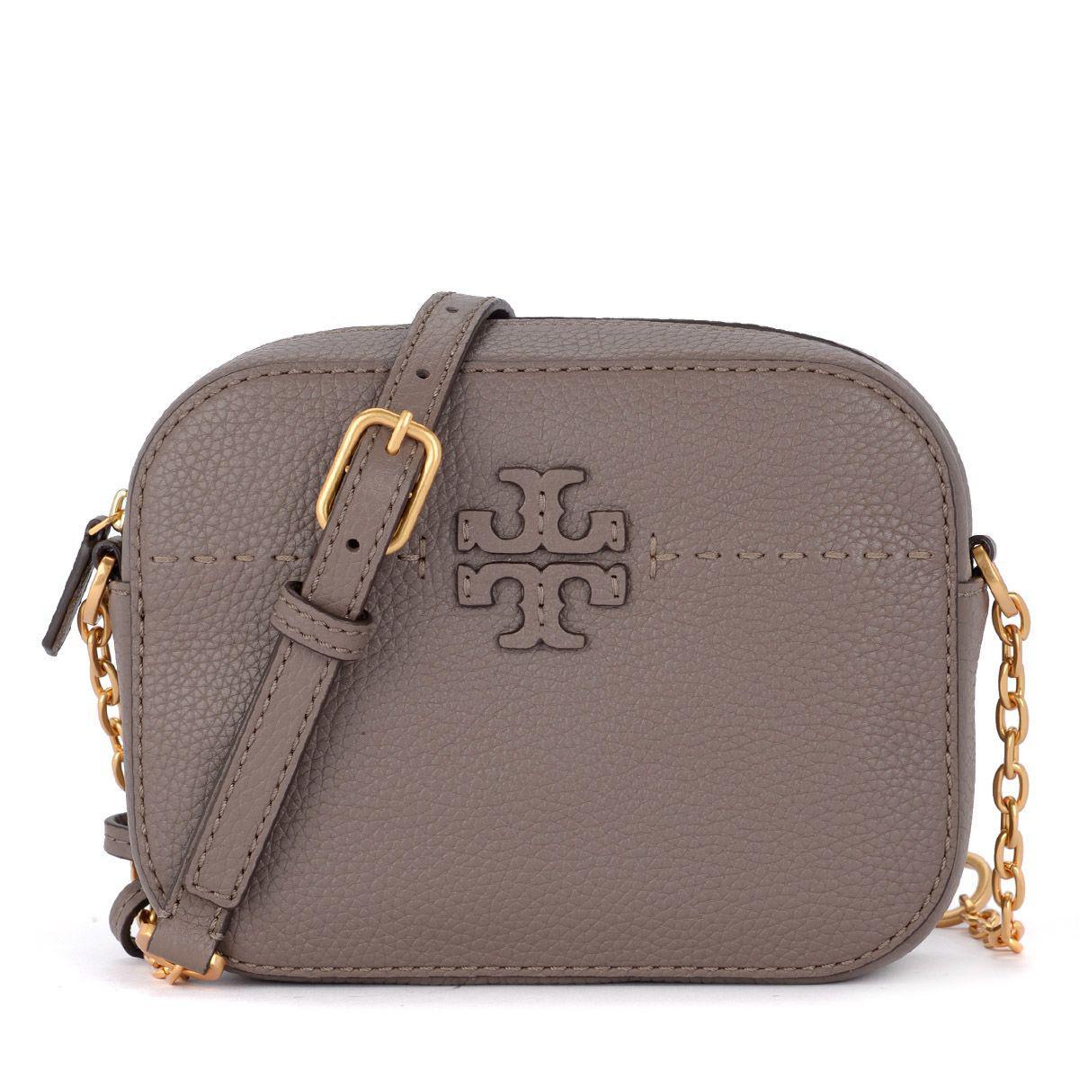76600056de Tory Burch Mcgraw Grey Leather Shoulder Bag In Grigio   ModeSens