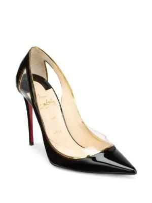 4d9b33a697cb Christian Louboutin Cosmo 554 Patent Vinyl High-Heel Red Sole Pumps ...