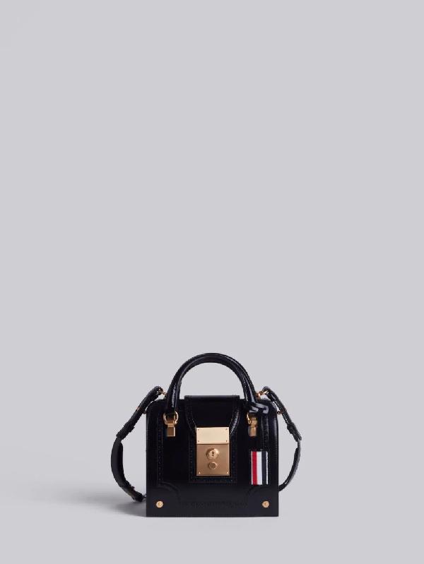 Thom Browne Calfskin Mrs. Thom Mini Bag In Black