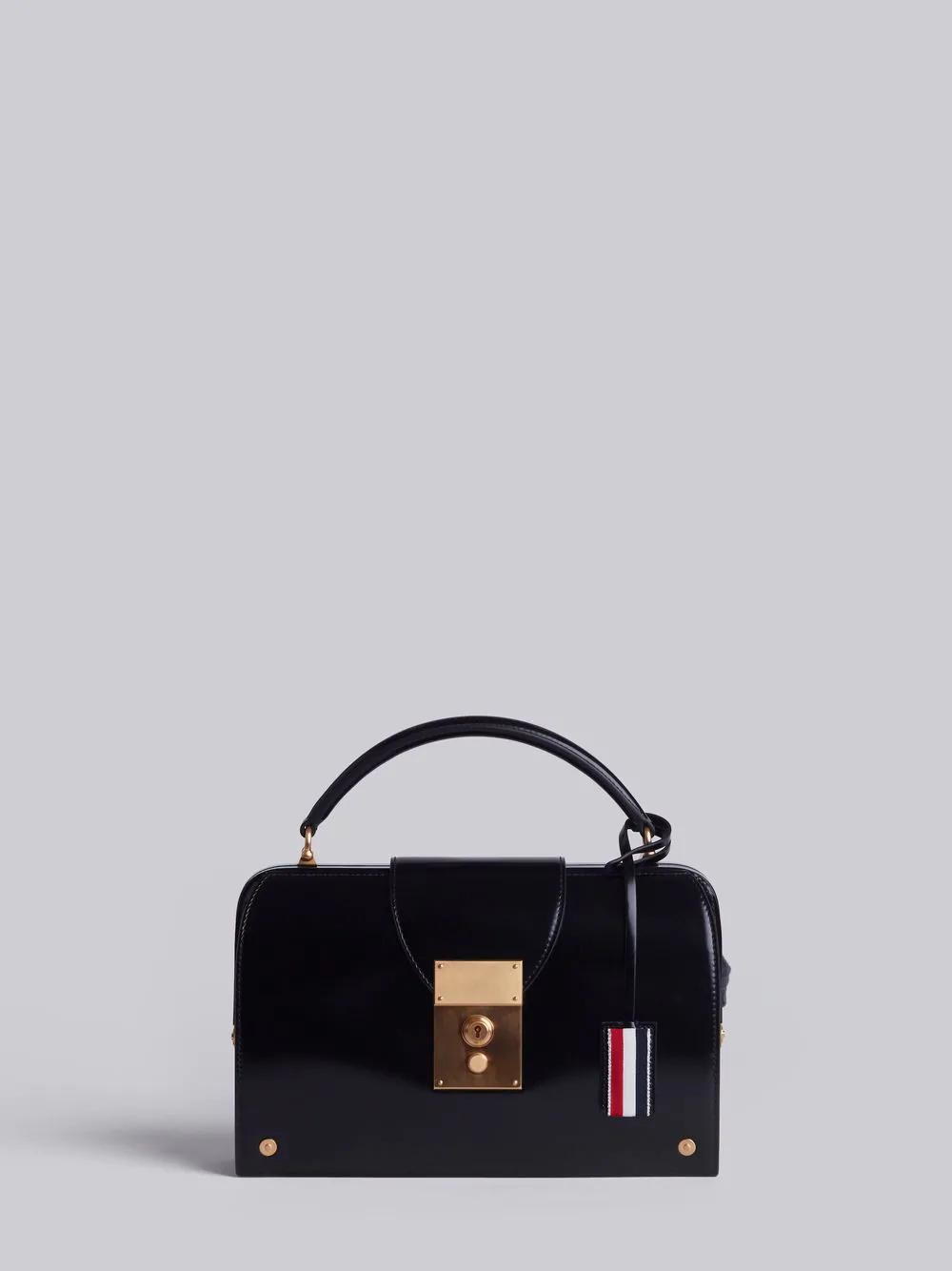 Thom Browne Mrs. Thom Calfskin Pocketbook In Black