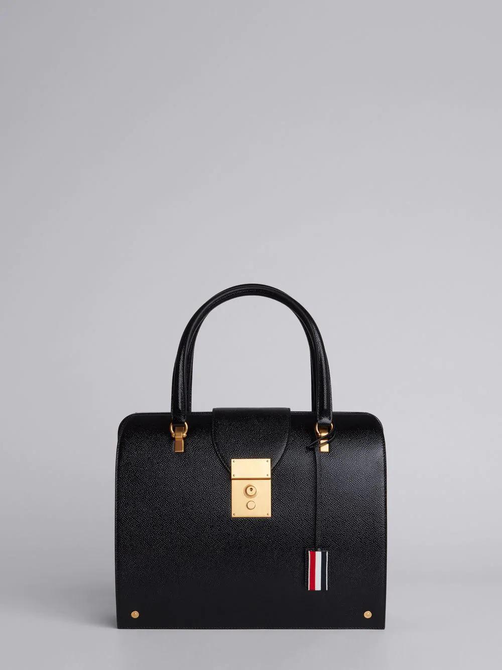Thom Browne Mrs. Thom Lucido Leather Bag In Black