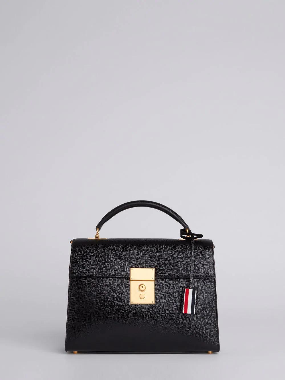 Thom Browne Mrs. Thom Unstructured Lucido Bag In Black