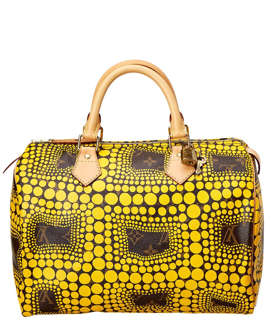 908e6869c291 Louis Vuitton Limited Edition Yayoi Kusama Yellow Dots Monogram Canvas  Speedy 30 In Nocolor