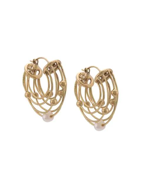 Ellery Classical Scaffolding Earrings - Gold