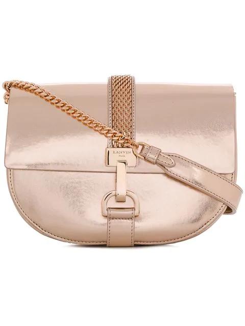Lanvin Lien Metallic Shoulder Bag