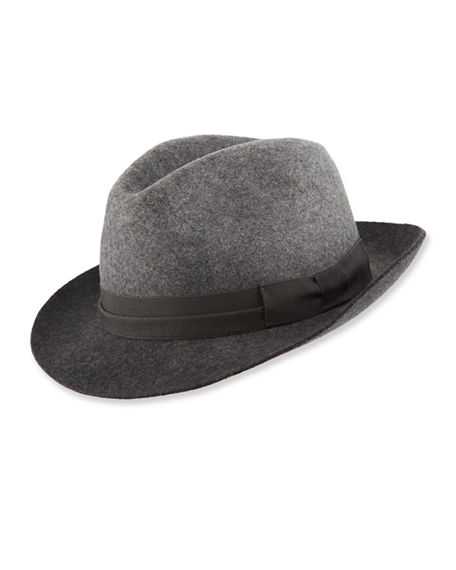 80c3776658f61a Paul Smith Men's Degrade Wool Fedora Hat In Black | ModeSens