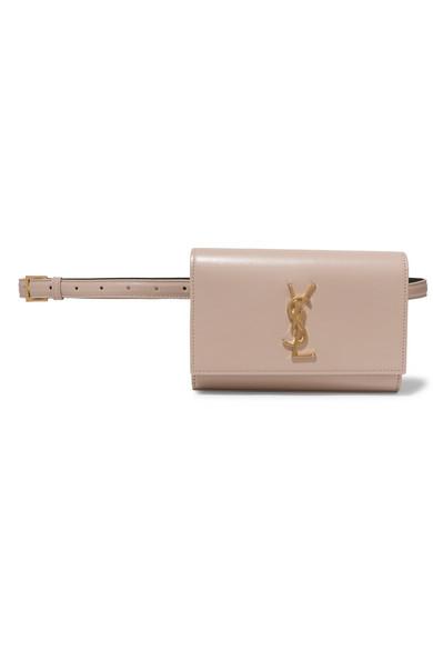 Saint Laurent Kate Monogram Ysl Leather Belt Bag In Beige
