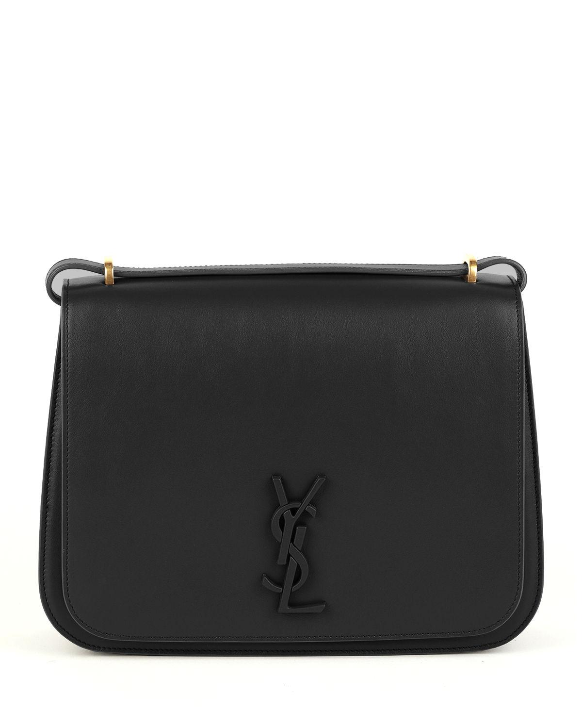well known best website buying now Spontini Large Monogram Ysl Leather Crossbody Bag in Black