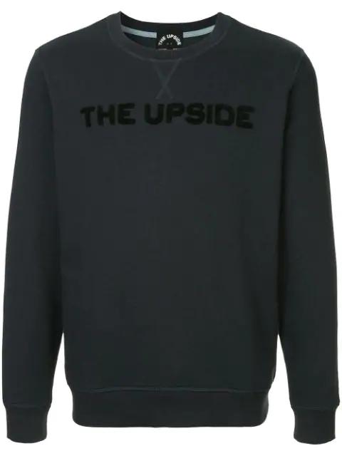 The Upside Logo Patch Sweatshirt In Blue