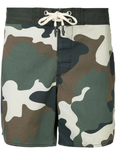 The Upside Military Printed Shorts In Green
