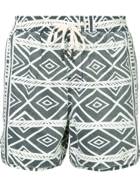 The Upside Drawstring Printed Beach In Blue