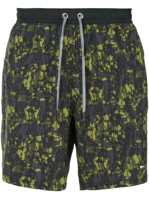 The Upside Camouflage Running Shorts In Blue