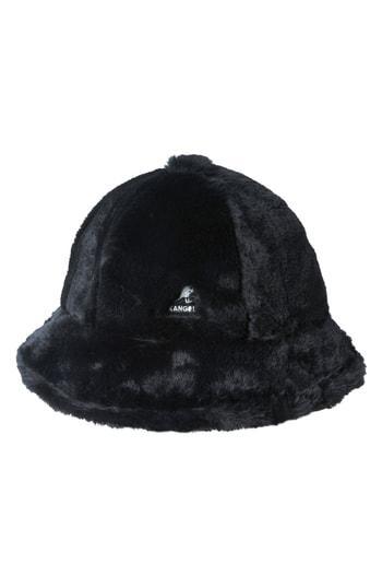 e489d4c6b28 Kangol Faux Fur Casual Bucket Hat - Black