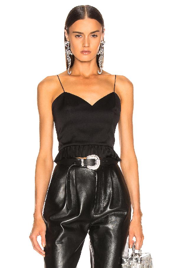 Magda Butrym Riga Silk Peplum Blouse In Black