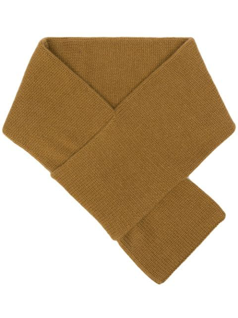 Aspesi Knitted Scarf - Brown