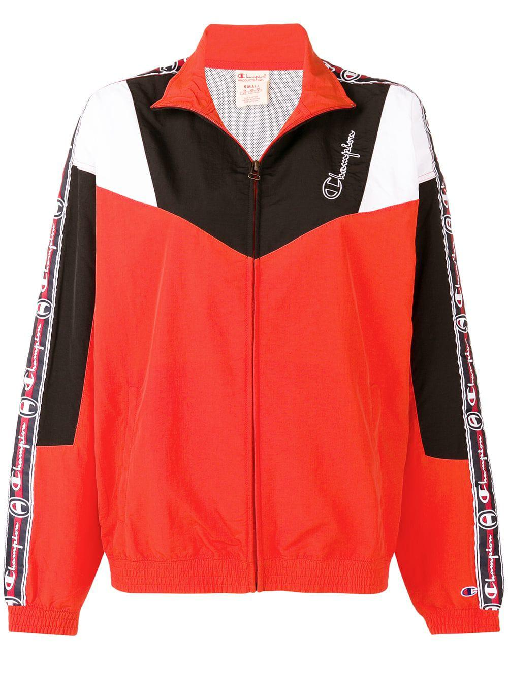 c995dbee73f Champion Logo Stripe Shell Jacket - Red