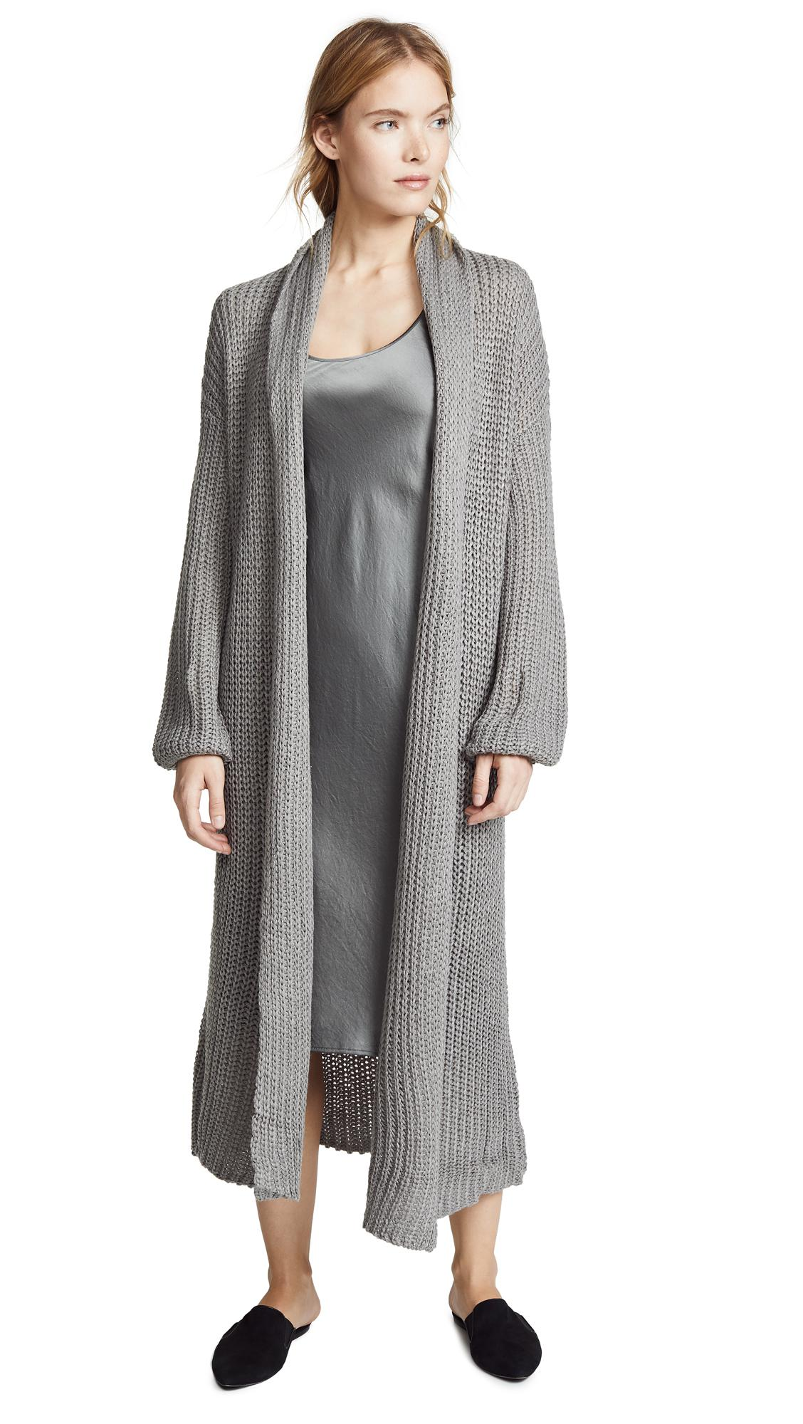 Bb Dakota Chunky Knit Duster Cardigan In Grey