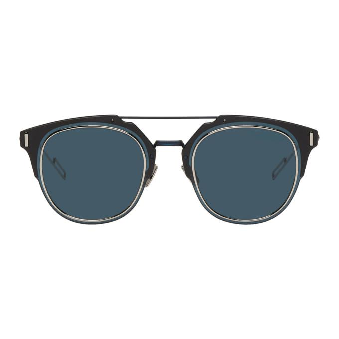 2a0c784384 Dior Homme Navy Dior Composit 1.0 Sunglasses In E8W Navy