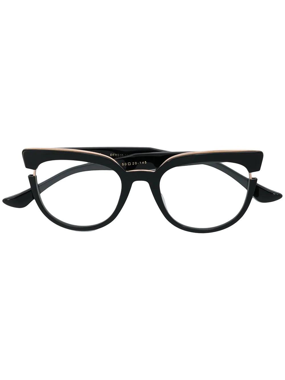236d1e0220b Dita Eyewear Monthra Glasses - Black. Farfetch