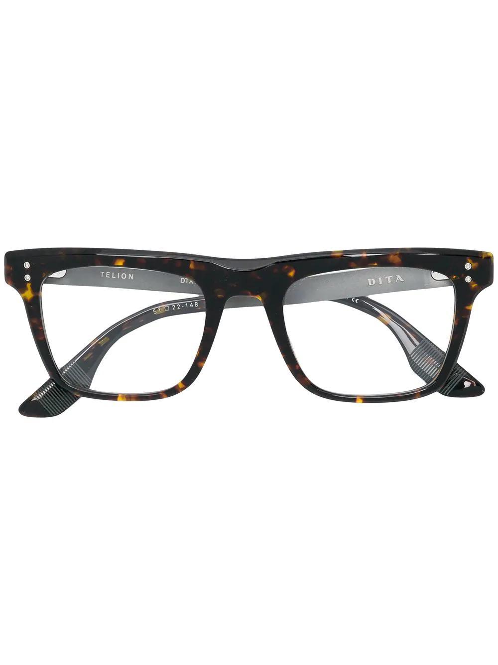 f78b4b4f767 Dita Eyewear Telion Glasses - Brown. Farfetch