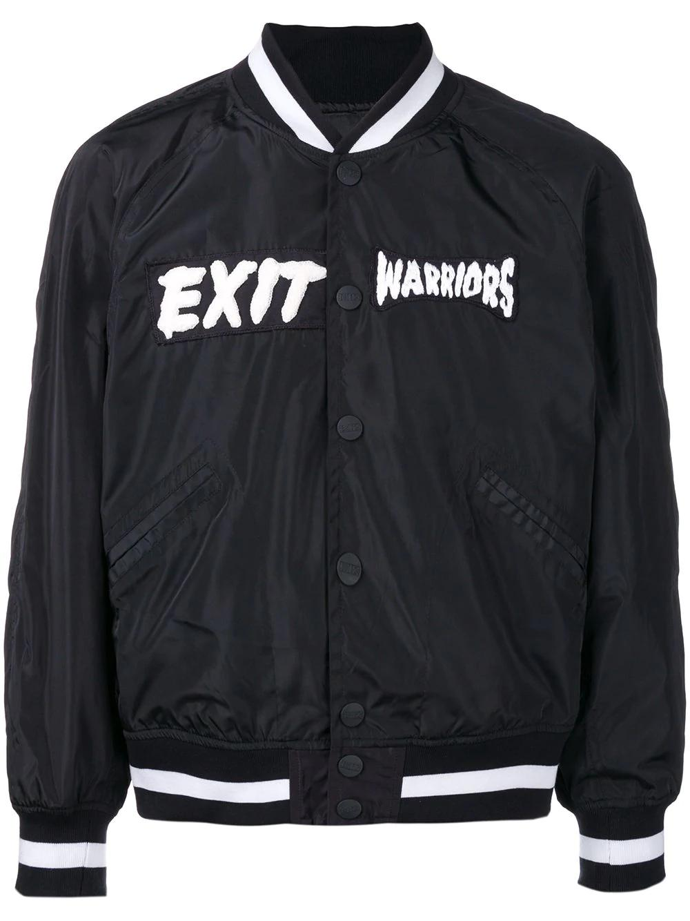 Ktz Zombie Embroidered Bomber Jacket - Black