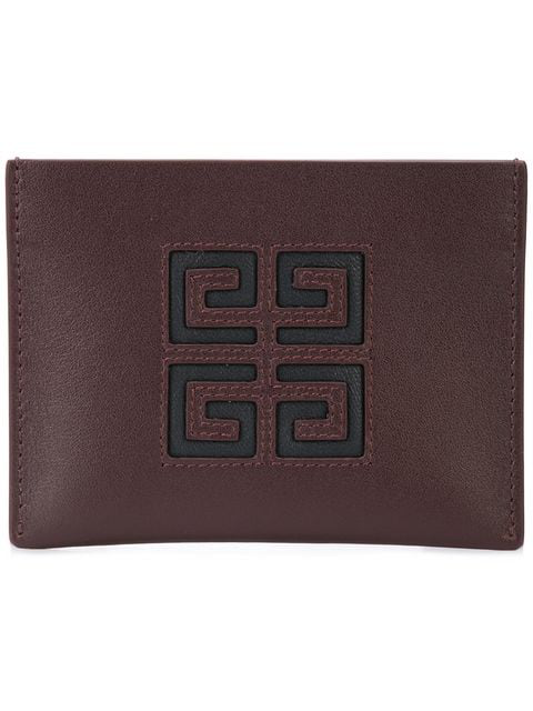 Givenchy Logo Cardholder In Brown