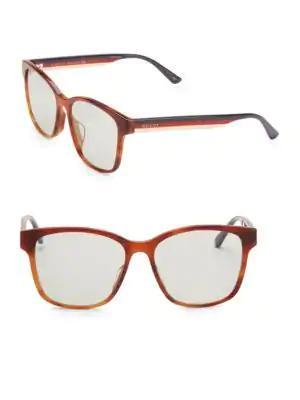 b9f93445846 Gucci 56Mm Unisex Acetate Sunglasses In Havana