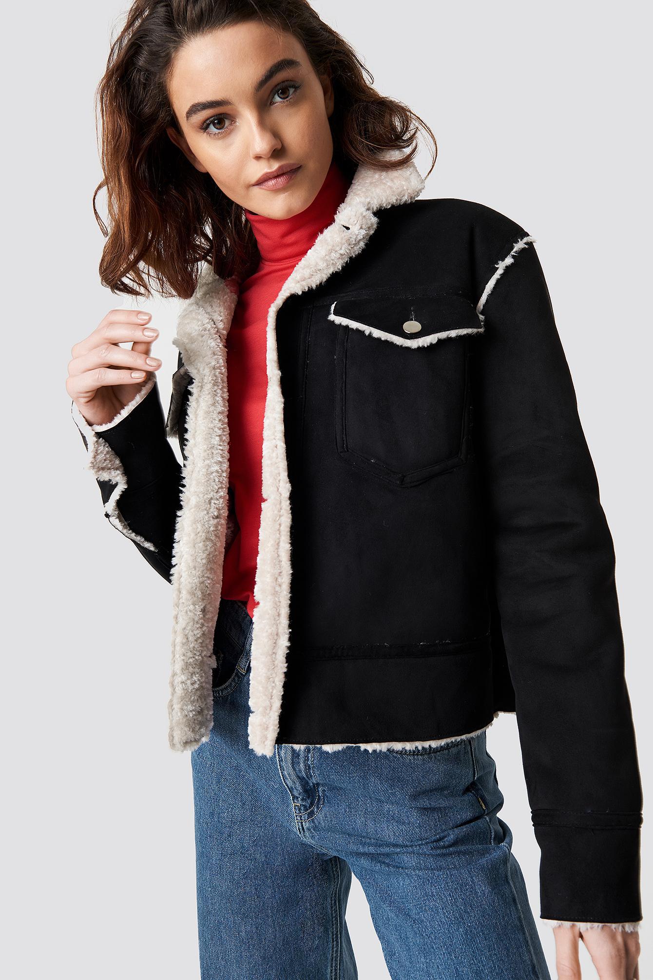 278d557f9 Shearling Jacket - Black