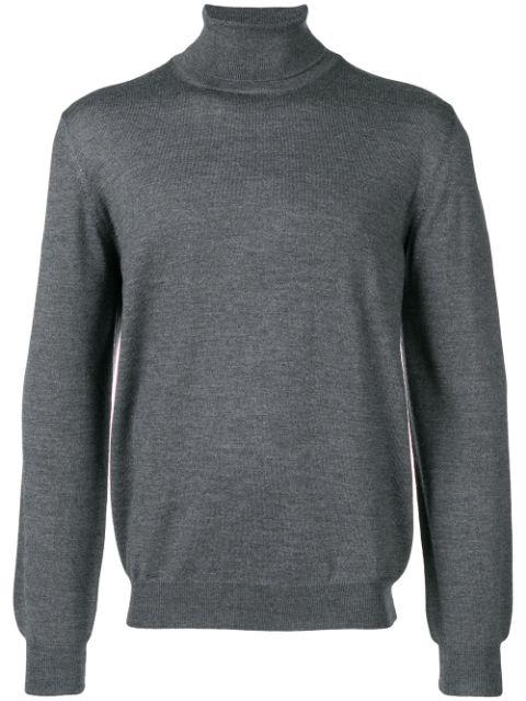 Barba Turtleneck Sweater In Grey