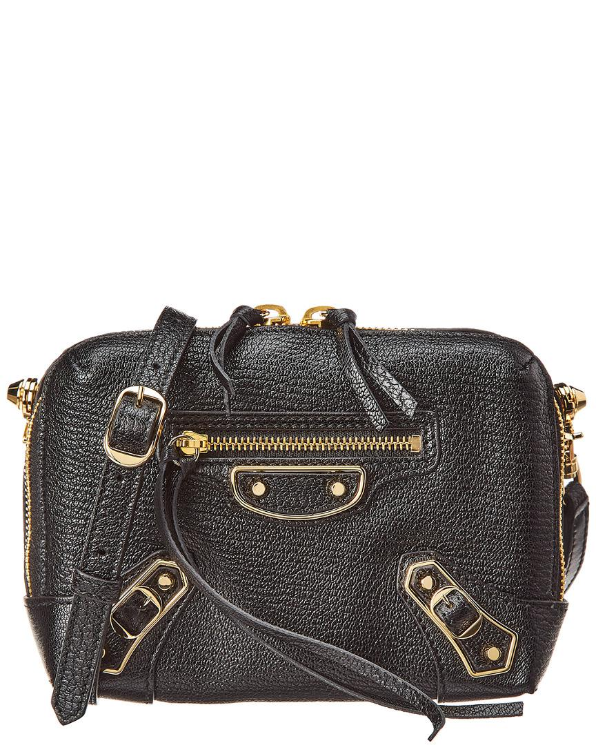 7f852d4a474f1 Balenciaga Metallic Classic Reporter Xs Leather Crossbody In Black ...