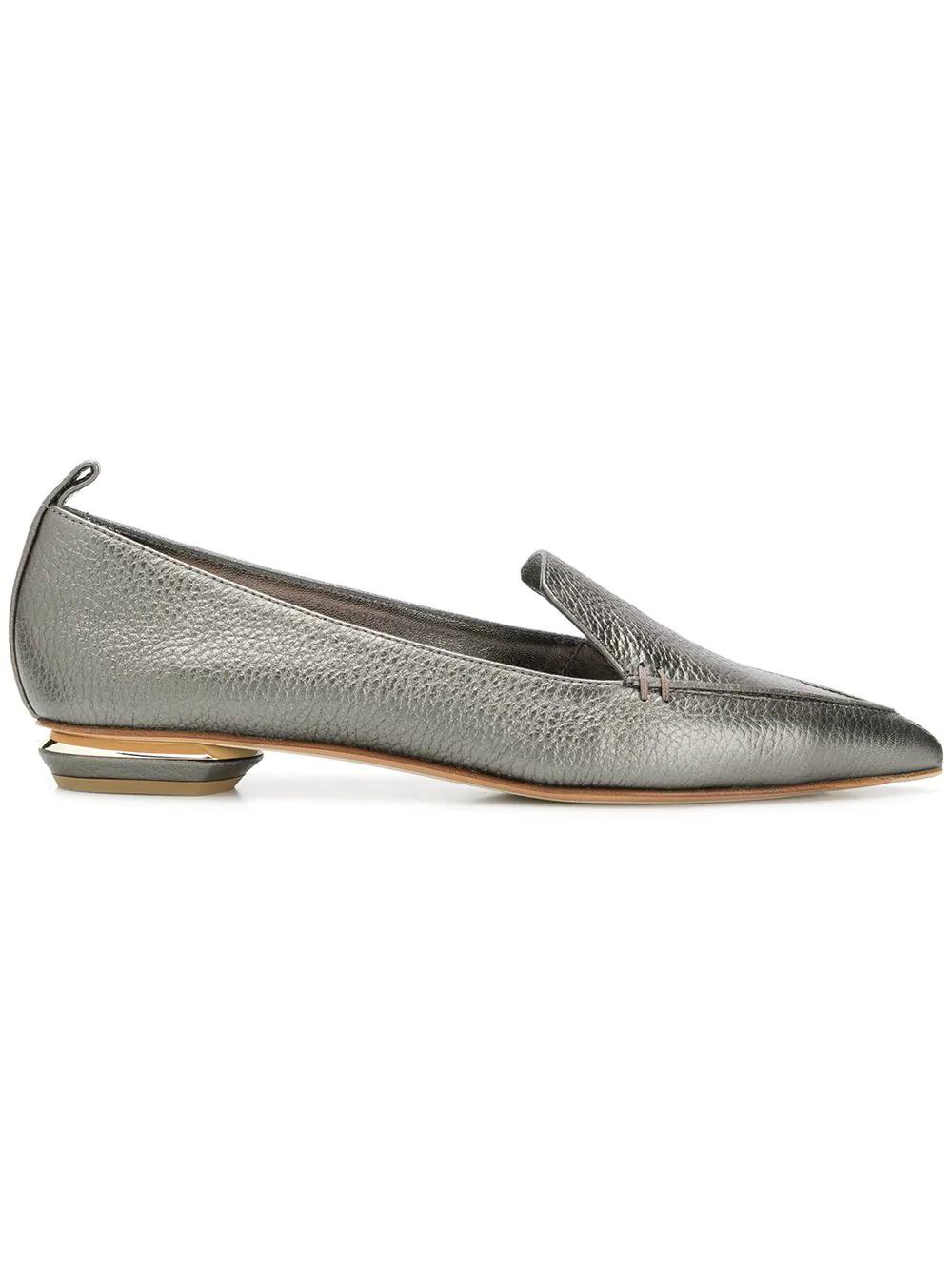 85c5c2de010b7e Nicholas Kirkwood Beya Black Tumbled Leather Loafer