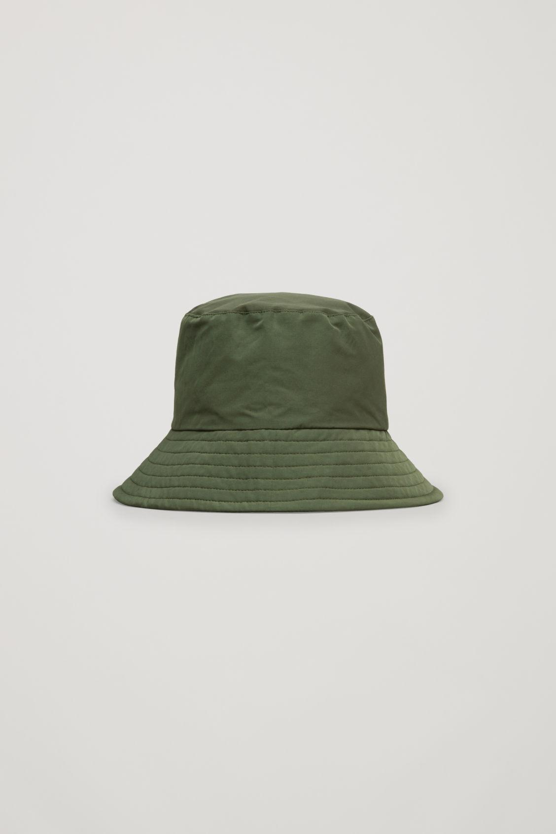 fd00cd26b8eb3 Cos Padded Waxed-Cotton Bucket Hat In Green