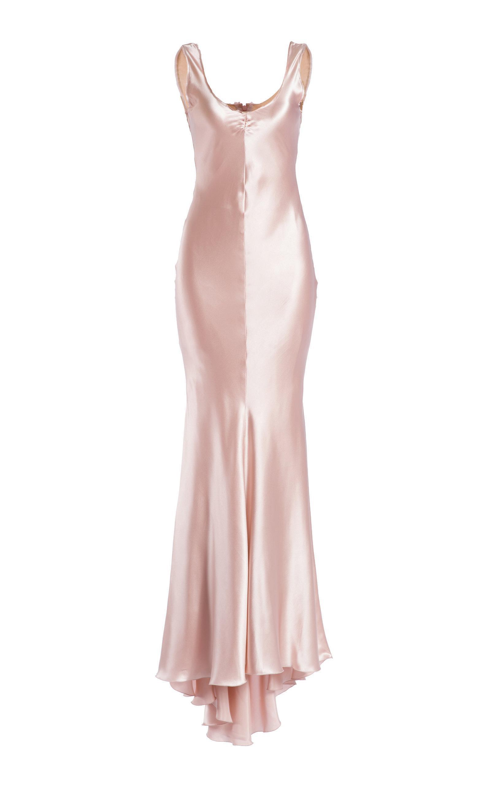 3398a695b31d Maria Lucia Hohan Pinar Mermaid Silk Satin Maxi Dress In Neutral ...