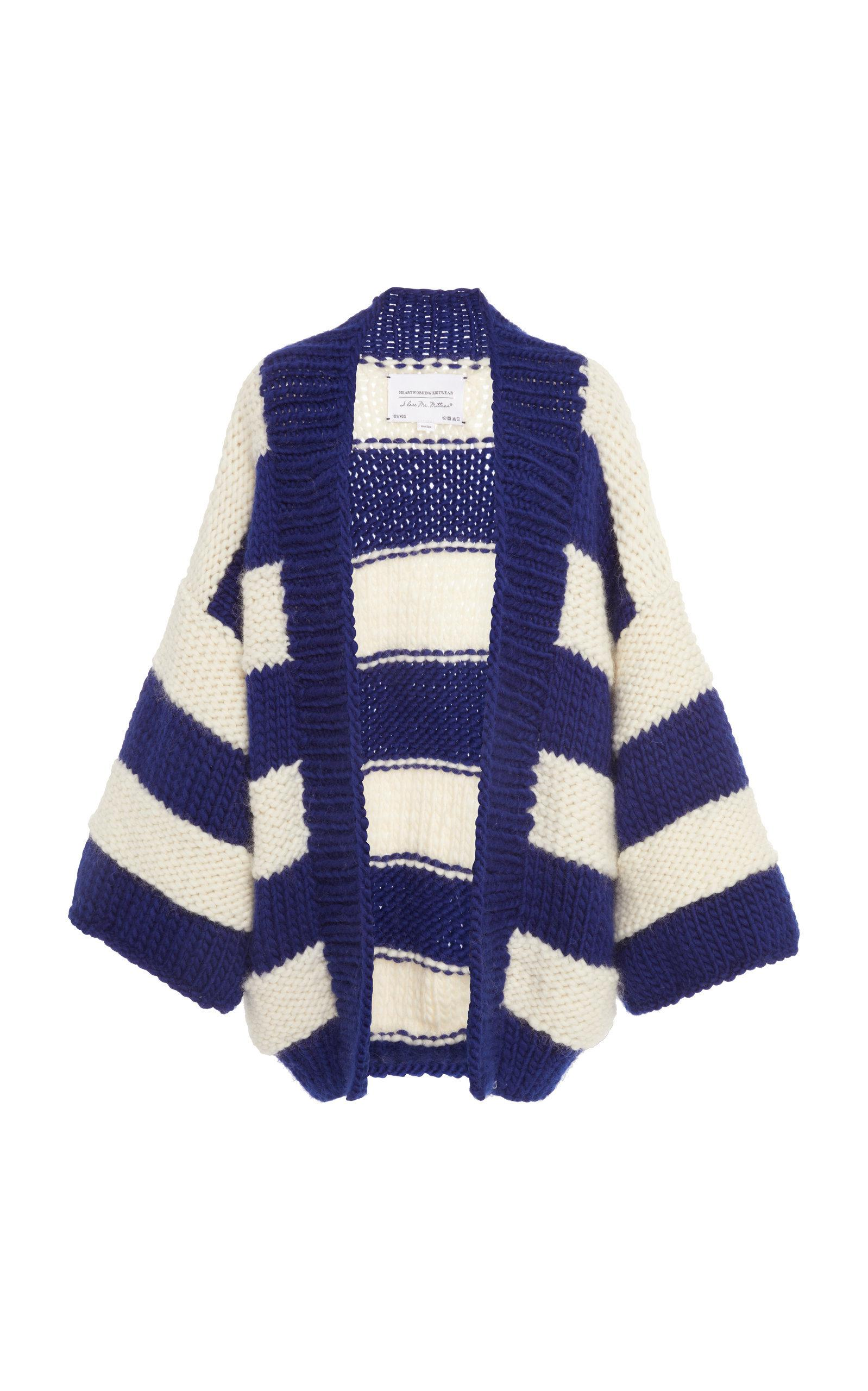 I Love Mr Mittens Exclusive Billie Striped Cable Knit Scarf In
