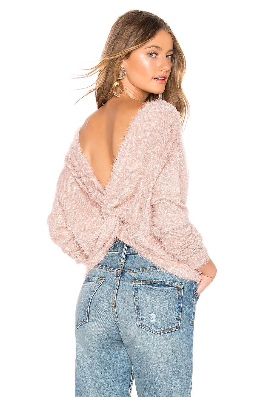 Majorelle Stardust Sweater In Blush. In Tan & Silver