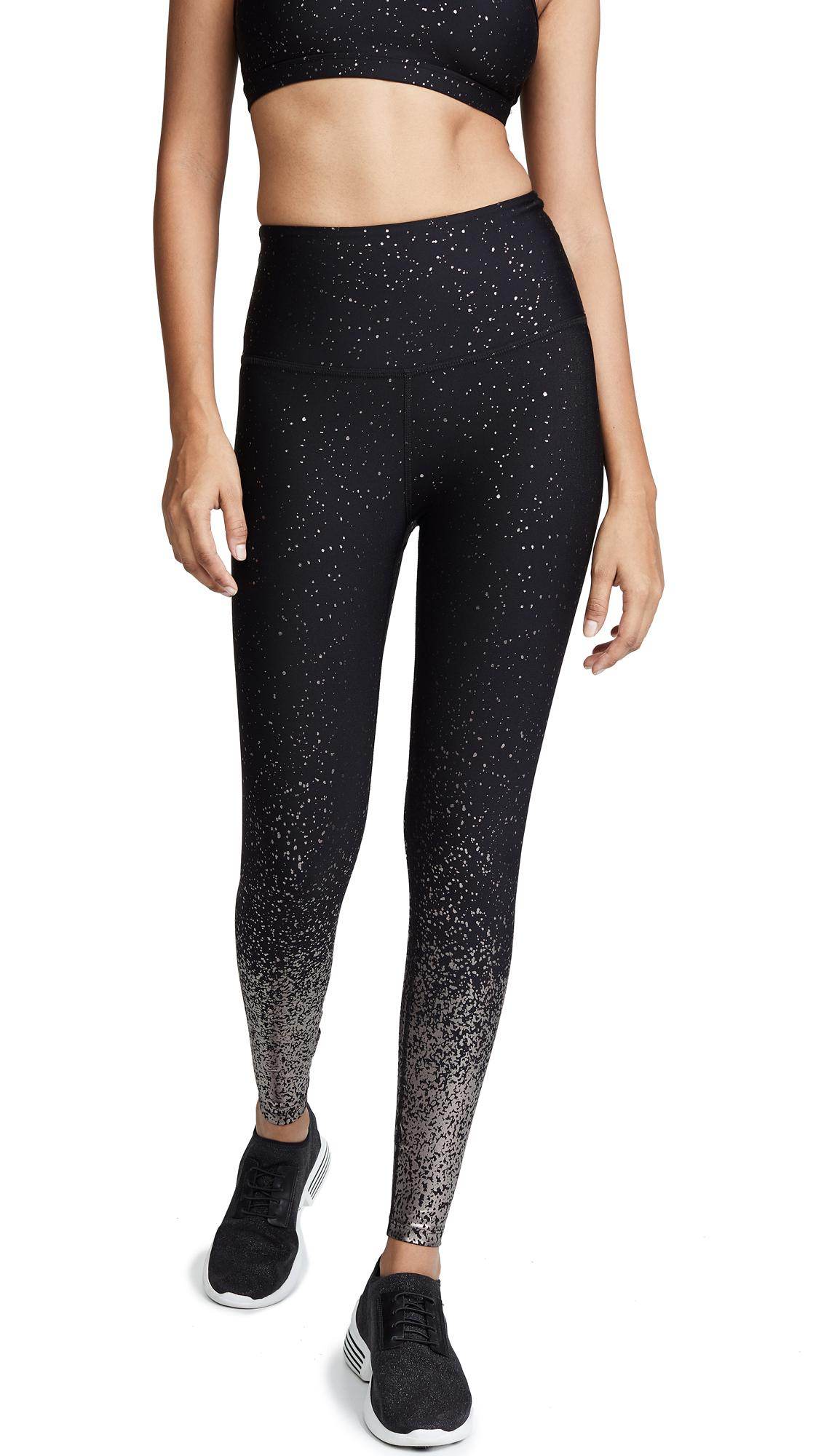 393d447f13 Beyond Yoga Alloy Ombre High Waisted Midi Leggings In Black/Gunmetal Speckle