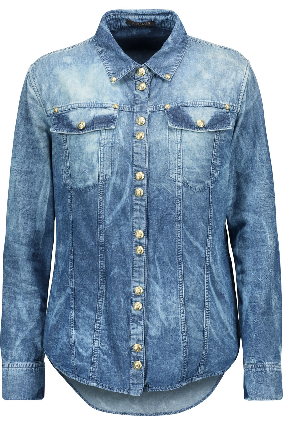29b36036 Balmain Denim Shirt | ModeSens