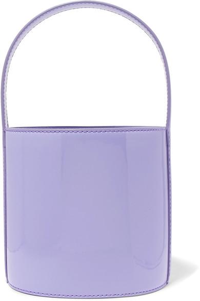 Staud Bissett Patent-Leather Bucket Bag In Lavender