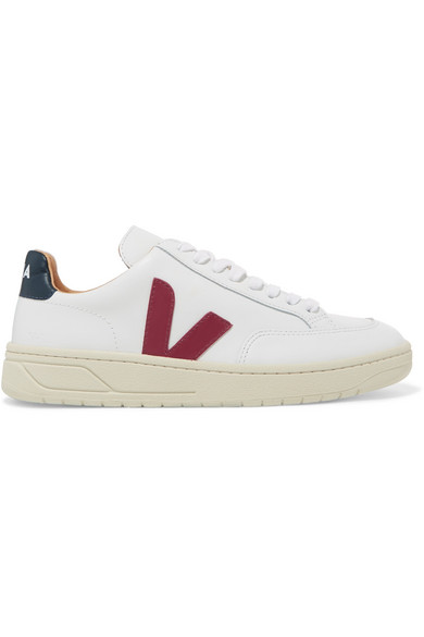 Veja Bastille Leather Sneakers In White
